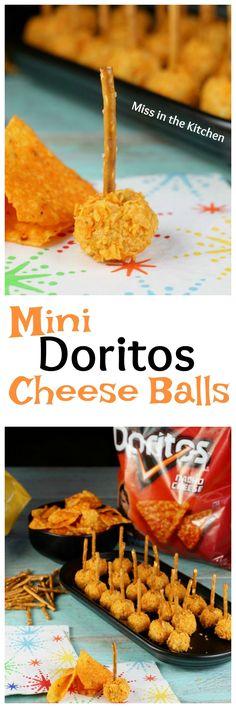 Mini Doritos Cheese Balls Summer Appetizer Recipe from MissintheKitchen.com #ad #SayYesToSummer
