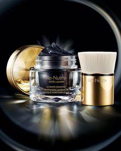 @esteelauder's new Re-Nutriv Ultimate Diamond Revitalizing Mask and Dry Brush.