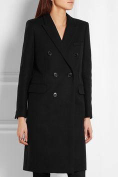 Saint Laurent | Double-breasted wool-twill coat | NET-A-PORTER.COM