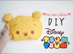 Sewing Pillows ♕Disney tsum tsum series : DIY Winnie the pooh no sew pillow♕ - Disney Crafts For Adults, Disney Diy Crafts, Squishies, Cute Crafts, Diy Crafts For Kids, Stick Crafts, Simple Crafts, Dog Crafts, Disney Pillows