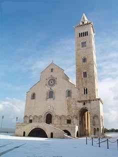 Trani Italy cattedrale innevata