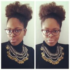 #OfficiallyNatural #NaturalHair #AfroPuff #NaturalBelle