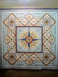 "quilt show    ""Portal to the Sun""   #quilt #quilting #longarm #machinequilting #tinlizzie18"
