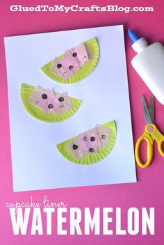 Cupcake Liner Watermelon {Kid Craft}