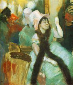 Portrait after a Costume Ball (Portrait of Madame Dietz Monnin), 1879, Edgar Degas  Size: 85.5x75 cm Medium: pastel