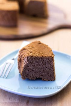 Chocolate Chiffon Cake from Christine's Recipes