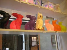 Bunny and Owl lamps by Amber Jensen, via Flickr