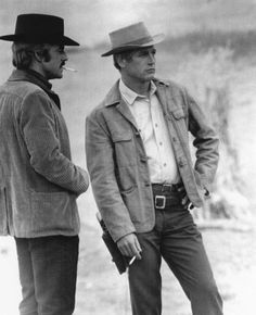 Paul Newman and Robert Redford....my favorite movie of all times!  Butch Cassidy and the Sundance Kid!! <3
