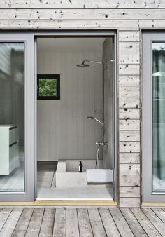 Villa Hagerman, Ljugarn – M. House Design, Glass House, House, House Bathroom, Cottage Toilets, House Inspiration, House Layouts, Sweden House, Bathroom Inspiration