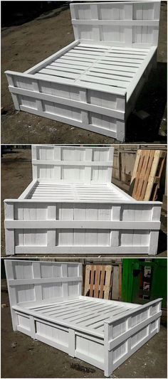 The Best and Easiest DIY Ideas with Recycled Wood Pallets: Let's give your dream home the feel of reality by showing you out with some of the mesmerizing and charming ideas of the old shipping wooden pallets. Pallet Couch, Pallet Beds, Wood Pallet Furniture, Headboard Shapes, Bed For Girls Room, Pallet Designs, Pallet Creations, Decoration Piece, Wooden Pallets