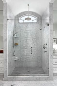 Find and save ideas about Bathroom tile designs ideas See more ideas about Shower ideas bathroom tile, Shower tile patterns and Shower designs. Grey Bathrooms, Beautiful Bathrooms, Small Bathroom, Bathroom Towels, Bathroom Cabinets, 1950s Bathroom, Bathroom Furniture, Bad Inspiration, Bathroom Inspiration