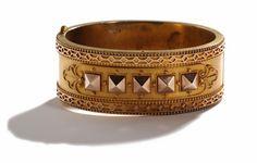 Victorian Gold Bangle Circa 1860-1870.  Looks so much like modern Hermes...