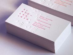 Business Cards 2012 by Si Maclennan, via Behance