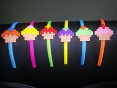 Cupcake Headband hama beads by PixelCrazy