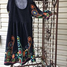 AZTEC design gray dress colorful designs EUC. AZTEC design gray dress colorful designs excellent condition worn once. Zero pilling. Perfect condition. Reborn Dresses