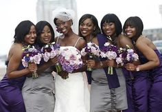 purple and grey wedding bouquet | bcgevents: Color-Spiration ...