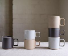 Introducing the HASAMI PORCELAIN collection.  Beautiful stackable cups perfect for your morning #pourover #coffee