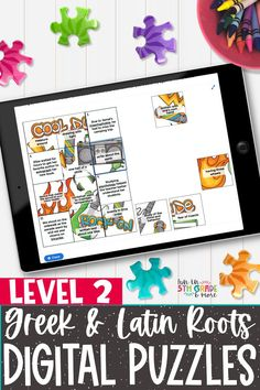 Greek & Latin Roots can be so fun to review! Learning Greek & Latin Roots is an important skill in the English language. These level 2 Greek & Latin Roots activity is perfect to use in the classroom during independent or partner time or during distance learning/virtual learning. These puzzles are no prep and self checking. Works on any device that has internet connection.