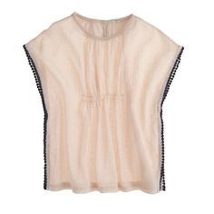 J.Crew gauze Pom Pom top (for girls, but why not for women, too?!)