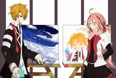 Eruna's so proud of her portrait xD [Mikagura School Suite] All Anime, Manga Anime, Anime Art, Anime Kunst, Art Series, Asuna, Funny Cute, Anime Couples, Art Images
