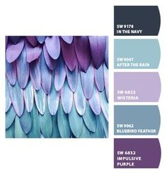 Paint colors from ColorSnap by Sherwin-Williams beautiful colors Scheme Color, Color Schemes Colour Palettes, Paint Color Schemes, Colour Pallette, Color Combos, Purple Color Schemes, Purple Palette, Paint Colors For Home, House Colors