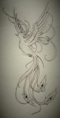 Phönix tattoo drawing