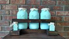 Check out this item in my Etsy shop https://www.etsy.com/listing/540726466/farmhouse-kitchen-mason-jar-canister-set