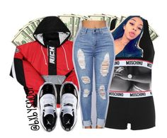 """""""Untitled #425"""" by bxbysnoop ❤ liked on Polyvore featuring Moschino and Retrò"""