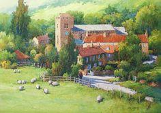 Ian Ramsay Watercolors ~ Lastingham, Yorkshire, England