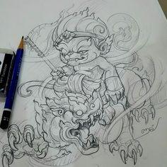 Clock Tattoo Design, Sketch Tattoo Design, Tattoo Sketches, Tattoo Drawings, Body Art Tattoos, Tattoo Designs, Thailand Tattoo, Thailand Art, Khmer Tattoo