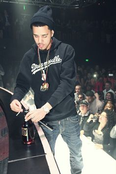 J cole on stage #swag