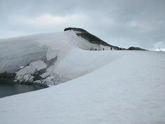Antarctica - slope behind abandoned Argentinian base