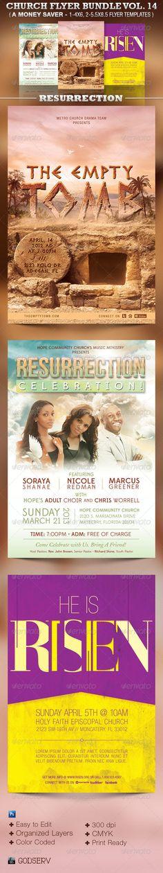 Resurrection Church Flyer Template Bundle Vol 14 — Photoshop PSD #pageant #invitation • Available here → https://graphicriver.net/item/resurrection-church-flyer-template-bundle-vol-14/5318760?ref=pxcr