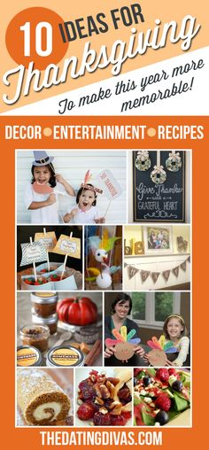 Fun ideas for Thanksgiving entertainment, decor, and recipes! I love this!!!  TheDatingDivas.com