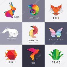 Скачайте стоковое векторное изображение Элементы для визуальной идентичности бизнес дизайна абстрактный красочные логотипы животные - 76118037 из многомилионной коллекции лицензионных фотографий, иллюстраций и векторных изображений Depositphotos.