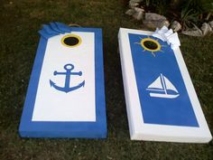 Cornhole Design Ideas custom corn hole boards bags solid wood construction foldable legs your custom design painted and sealed Beachy Cornhole Bean Toss Boards For Parties