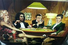 Marilyn Monroe Bob Marley, James Dean and Elvis Presley
