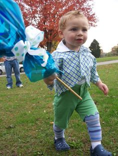75 Cute Homemade Toddler Halloween Costume Ideas! @Bailey Francine McEuen - munchkin from the lollipop guild!
