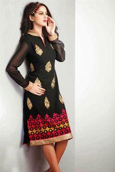 Designer Party Wear Georgette Kurti - $35.00