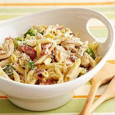 This creamy chicken and penne pasta makes a delicious dinner any night of the week!