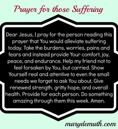Sending love and prayers for all who suffer from chronic illness. God please provide them with comfort, joy, peace, and endurance.  <3