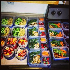 Preparing meals ahead of time for the week...so doing this for my lean and green.