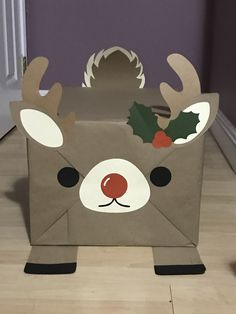 Made a wrapped present into a reindeer for the little ones to enjoy.