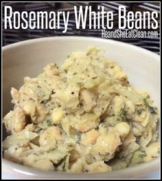 These are the perfect healthy and filling side dish!  Clean Eat Recipe :: Rosemary White Beans #heandsheeatclean #eatclean #recipe