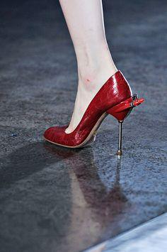 Prada Spring 2012 rtw #heels #stilettos #red