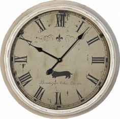 Superieur Large White Metal Wall Clock