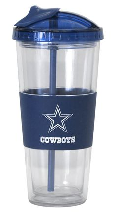 4675720124/846757201242/_B_ Eco-friendly straw tumbler comes with team-colored top and rubberized sleeve. The 20 ounce tumblers are BPA-free and highly durable. Retractable straw folds carefully into