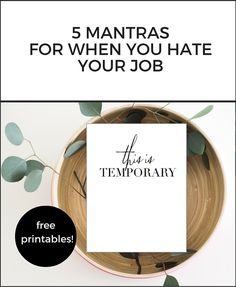 When you hate your job, it's hard to see the light at the end of the tunnel. So if you are ready to quit and in the midst of career change, download these free printables for a little encouragement.