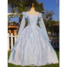 Items similar to Princess Cinderella Deluxe Elizabethan Fantasy Gown Custom Color and Size on Etsy Pretty Dresses, Beautiful Dresses, Blue Dresses, Costume Renaissance, Renaissance Fair, Goth Halloween Costume, Bridal Gowns, Wedding Gowns, Medieval Gown