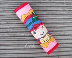 Seat Belt Strap Cover Strawberry Shortcake. Colorful cotton designer patterns with an urban sophisticated feel for toddlers, teens and adults. by Comfy Accessories.